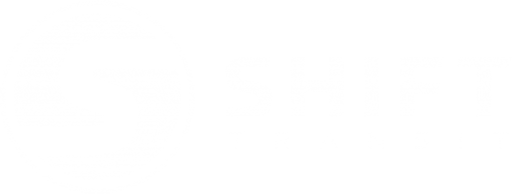 Shift Transit logo - white
