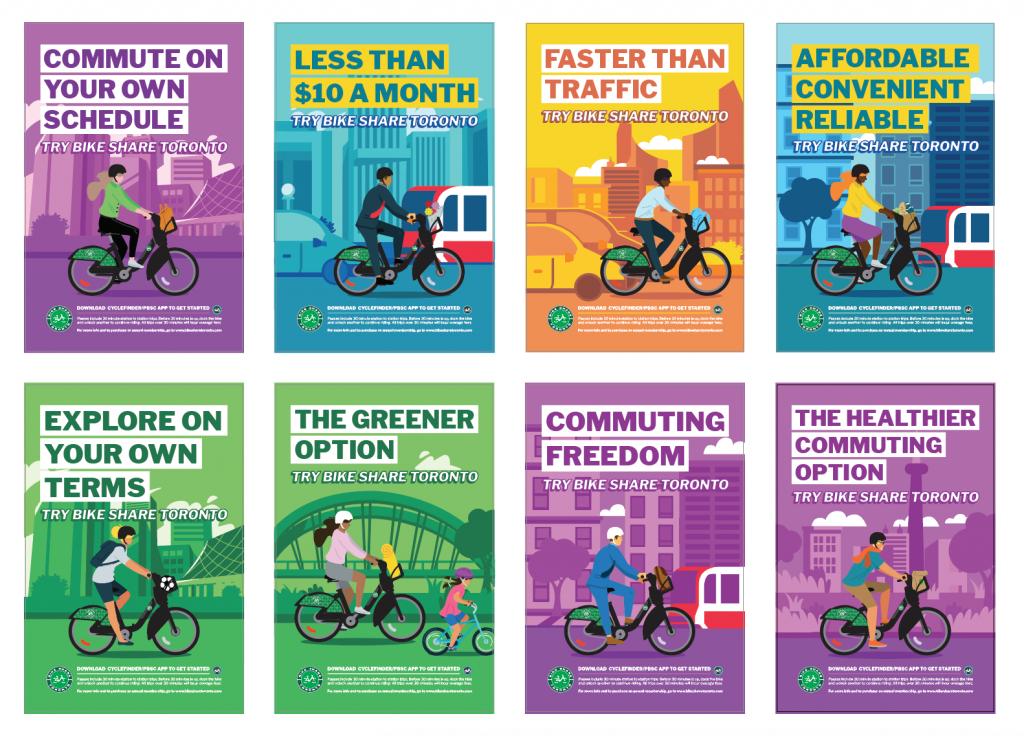 Bike Share Toronto 2020 marketing campaign ad posters