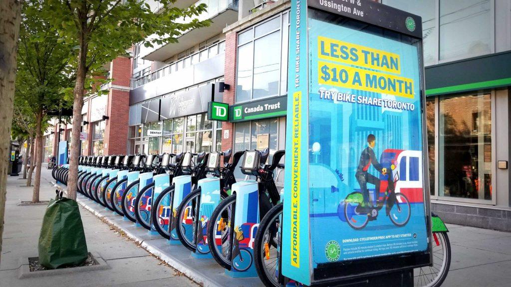 Bike Share Toronto station wrap - 2020 marketing campaign