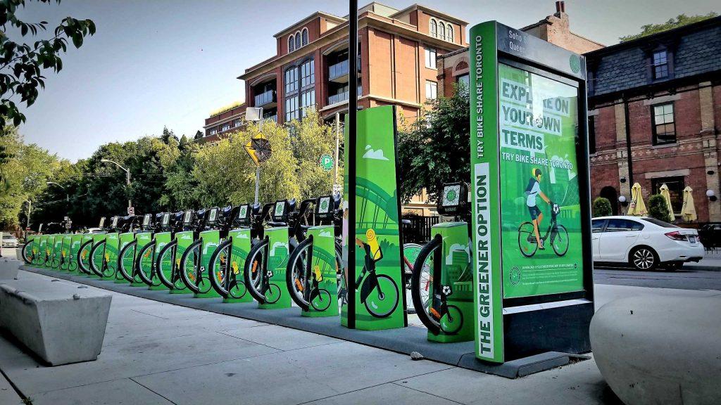 Bike Share Toronto station wrap